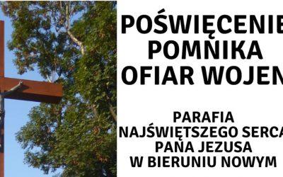 Poświęcenie pomnika ofiar wojen – zaproszenie