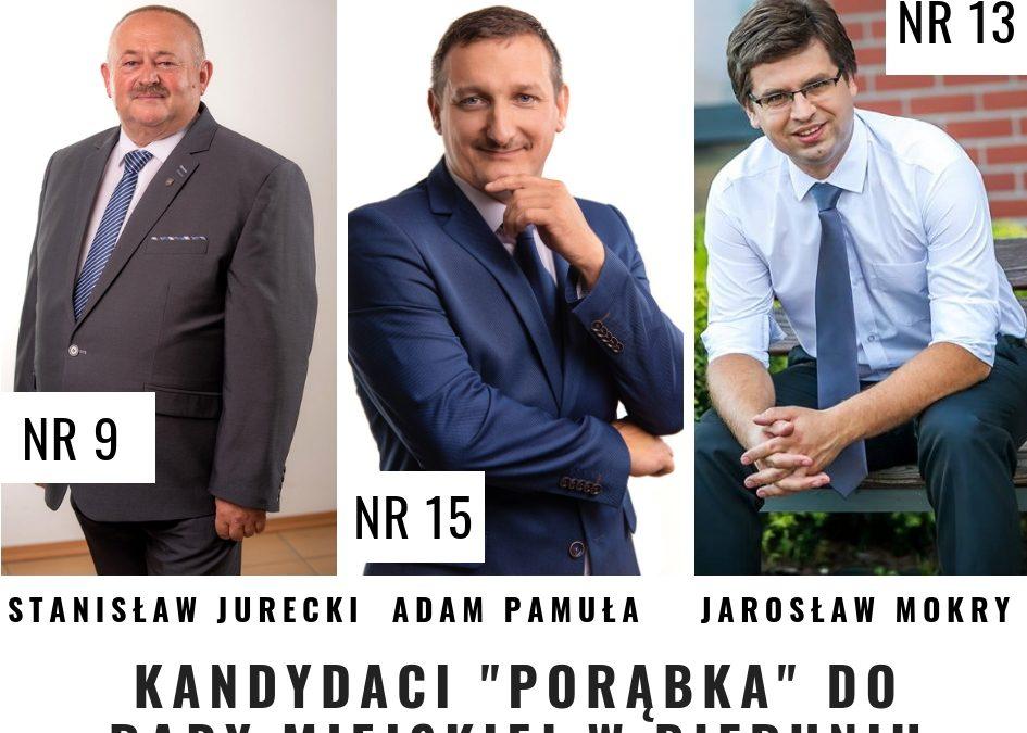 """Kandydaci """"Porąbka"""" w wyborach samorządowych"""
