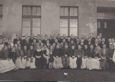 11.Spotkanie opłatkowe w szkole powszechnej w Czarnuchowicach 1937 rok