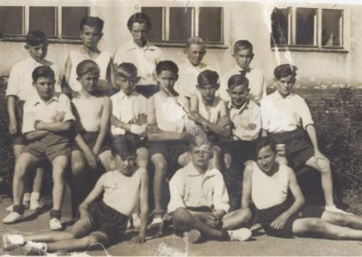 13. Pamiątka z zajęć gimastycznych-1950r