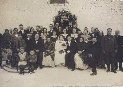 18.Ślub u Ganobisów w Czarnuchowicach - 22.1.1932 r