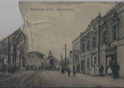 2.Pocztówka. Centrum Bierunia Nowego ul. Dworcowa