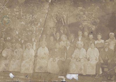 21.Ślub u Piekarczyków 1889 r. Najprawdopodobniej najstarsze zdjęcie z Czarnuchowic