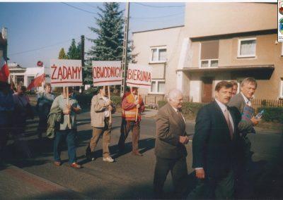28. Protest na DK 44 na rzecz budowy S1-5.05.2005r