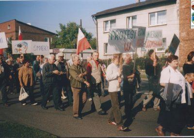 29.Protest na DK 44 na rzecz budowy S1-5.05.2005r