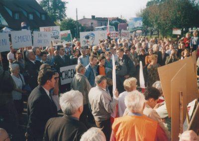 31.Protest na DK 44 na rzecz budowy S1-5.05.2005r