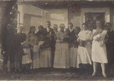35.Ród Piotra i Marii Palków z Czarnuchowic. Rok 1928