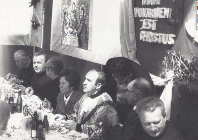 42.przyjęcie prymicyjne ks. Sylwestra Niesyto w 1977 roku