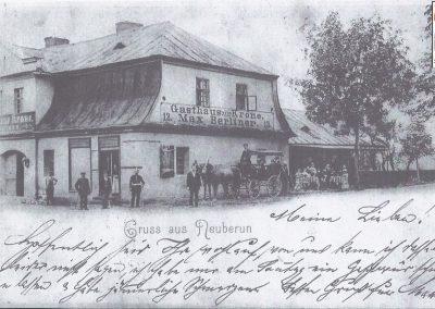 """8.""""Zajazd Korona"""" Maksa Berlinera w Bieruniu Nowym -  1910 rok - zdjęcie ze zbiorów Pana Henryka Ganobisa"""