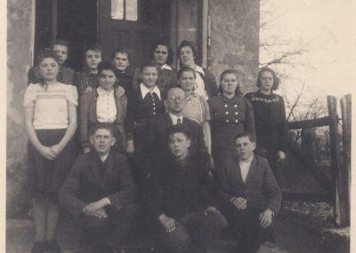 87.Kurs dokształcający w zakresie szkoły podstawowej-1945 r. Nauczyciel Roman Rychły (1897-1973)