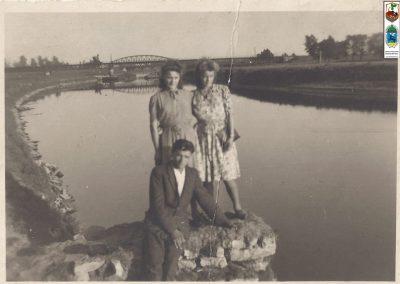 88.Widok na most kolejowy w Zabrzegu – 1941 r