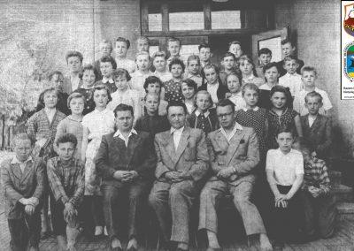 Nauczyciele od lewej Smołucha, Wierzgoń, Józef Mądry