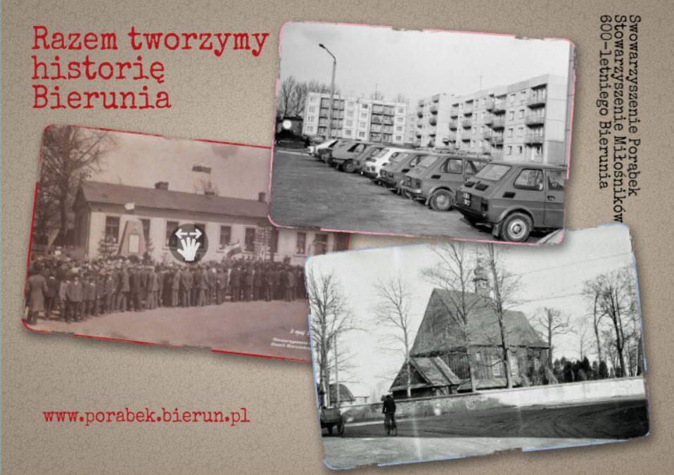 Udostępniamy zebrane zdjęcia w ramach akcji Razem tworzymy historię Bierunia