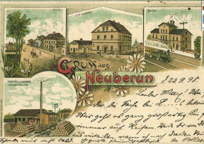 Widokówka Neuberun - 1898 r