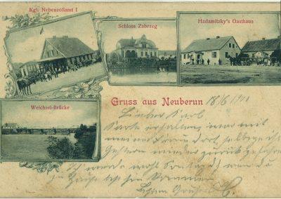 Widokówka z Bierunia Nowego - 1901 r