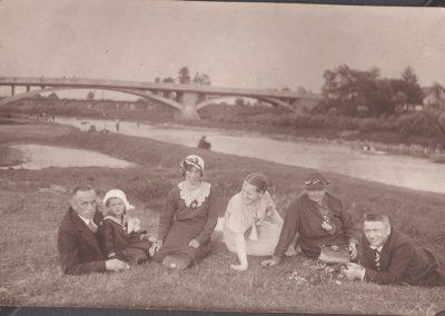 Nad Wisłą, od lewej Paweł Jaromin z Dorotą Paruzel