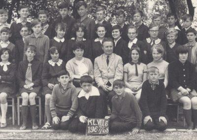 14.kl VIIb 1967_8. Bieruń Nowy